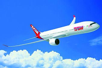 TAM A350-900 render (Airbus)