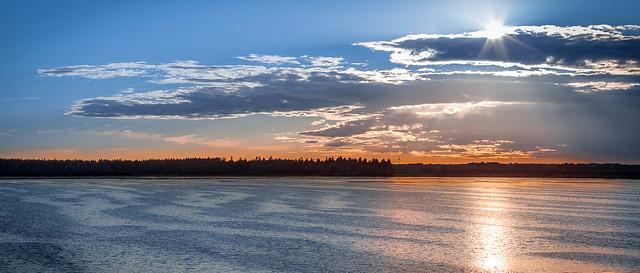 Sunset over Lake Horborga