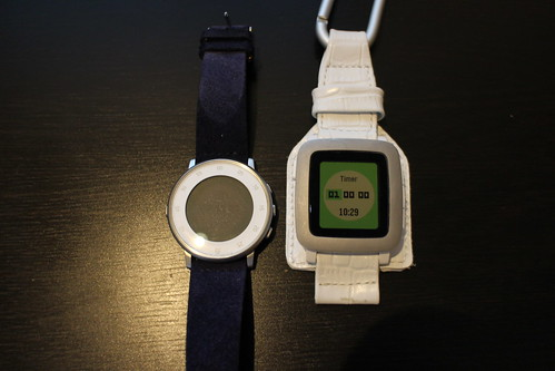 Pebble Time Round display white out
