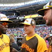 David Ortiz chats with Anthony Rizzo and Kris Bryant during the T-Mobile #HRDerby.