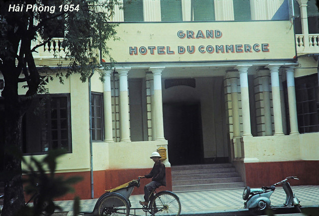 Grand Hotel du Commerce Haiphong Vietnam French Indochina, 1954