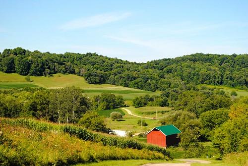 Farm south of Rockbridge, Wisconsin