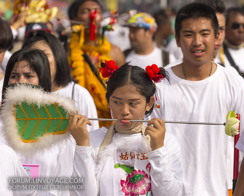 Girl at street procession at Phuket Vegetarian Festival. October, 2016. Phuket, Thailand | by Andaman4fun