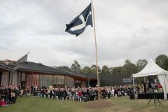 The Eureka Flag is raised for 20 minutes on a temporary flagpole - Eureka160-IMG_9328