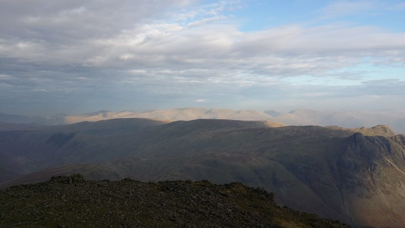 Looking towards Helvellyn from Bowfell