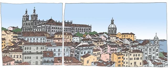 Portugal, Lisbon, Alfama, skyline