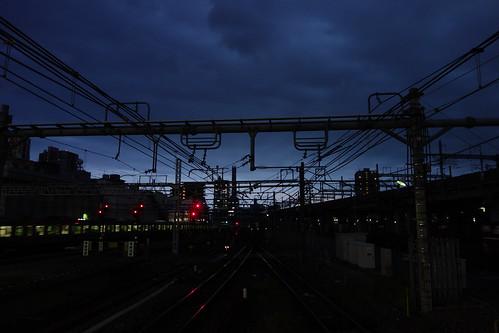 Omiya_9 埼玉県さいたま市JR大宮駅で撮影した鉄道写真。 日没間際。