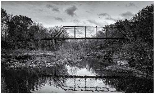 old bridge iron falls hills kansas elk flint truss