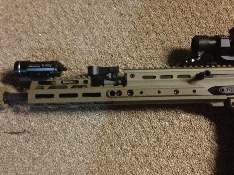 Installed Kinetic Development Group MREX Scar Rail - AR15 COM