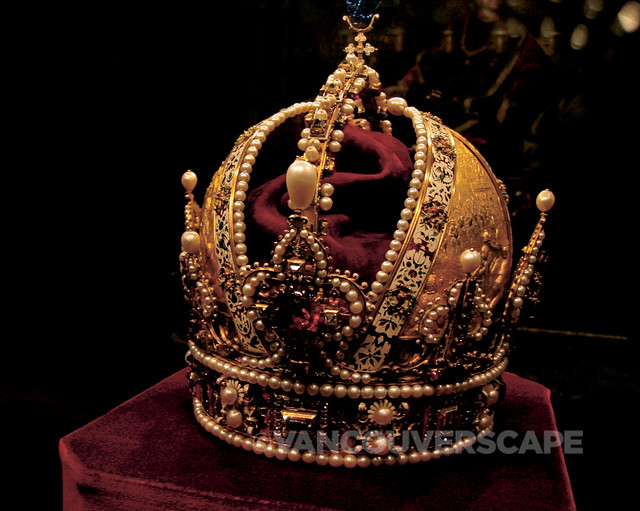 Austrian crown jewels at Schatzkammer, Vienna
