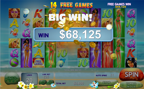 free Sunset Beach Big Win