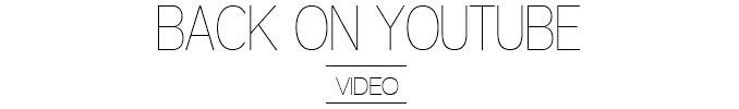 Back on Youtube