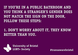 Transgender Bathroom Awareness Poster lgbtplusbristol 50079