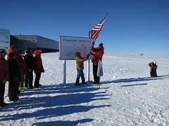 Unveiling of the new South Pole Marker