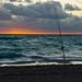Florida beach fishing at sunrise