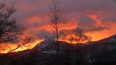 cloud, mountain, red sky at morning, evening, morning, dusk, dawn, sunset, sunrise,