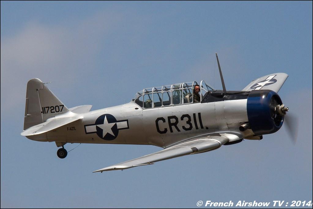 North American T6, F-AZTL des ailes anciennes de Corbas, Meeting des 60 ans de l'ALAT,Aviation légère de l'armée de Terre (ALAT), Cannet des Maures