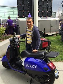 Filo's purple Vespa