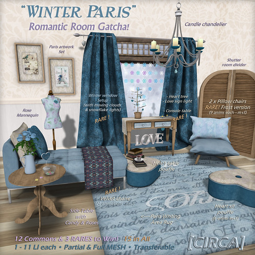 "@ The Promenade - [CIRCA] - ""Winter Paris"" - Romantic Room Gatcha!"