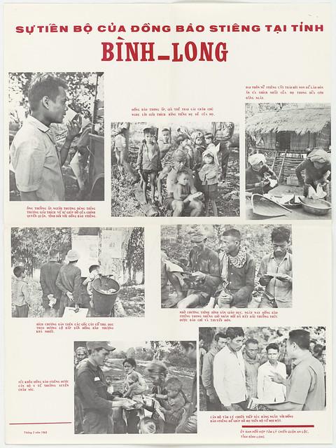 1965 Poster:  Sự tiến bộ của đồng bào STIÊNG tại tỉnh BÌNH-LONG (2-10-1965)