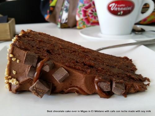 Chocolate cake, Migas, El medano
