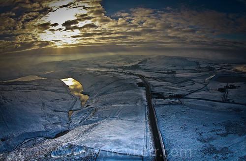 snow reflection drone saddleworth dji djiphanton2