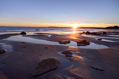 sunset canada beach rocks novascotia ns shoreline lowtide atlanticocean lawrencetown 2015 conradsbeach