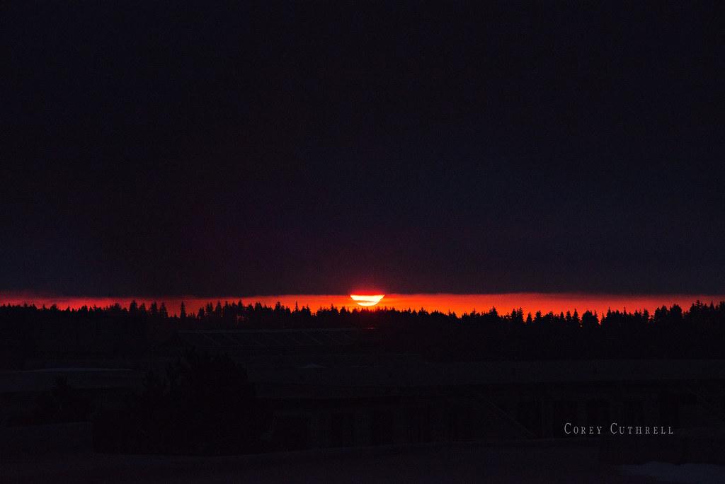 sunrise over snowshoe