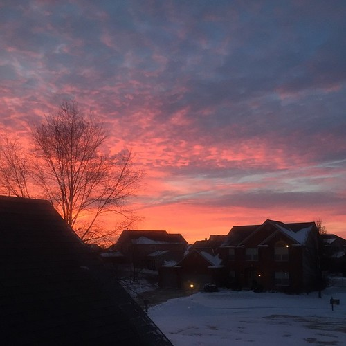 Look Outside and See the Gift of Today #sunrise #winter #sky #chambana
