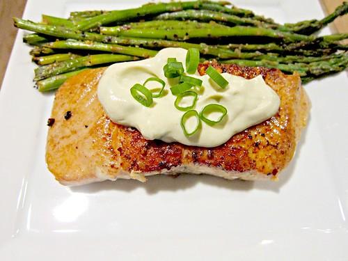 Seared Salmon with Wasabi and Lemon Cream Sauce 001