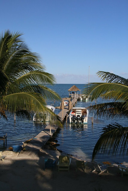 View from the German's Balcony.  Caye Caulker, Belize.