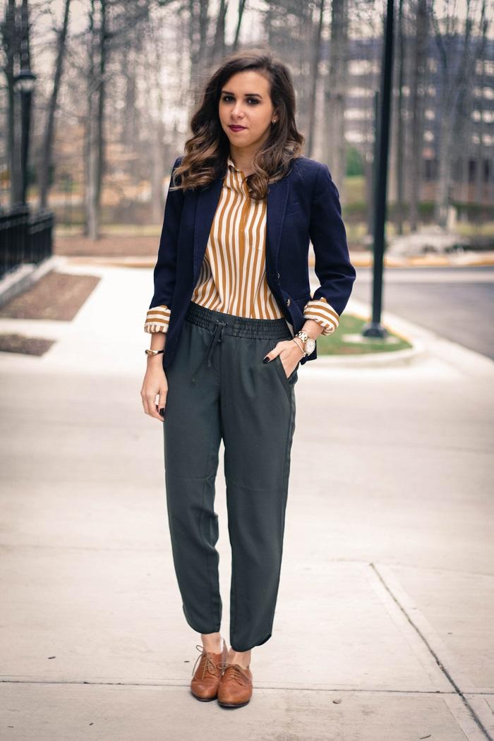 va darling. blogger. fashion blogger. dc blogger. jcrew. office attire. loft trousers. leather brogues. 5