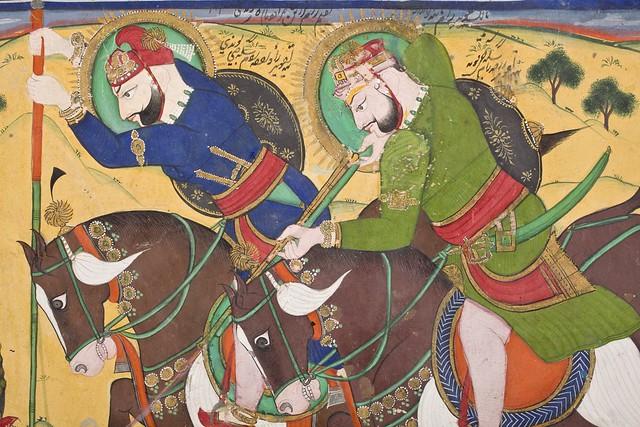 Maharao Ram Singh II of Kota (reigned 1827-1866) Hunting with Maharao Ram Singh of Bundi (reigned 1828-1866) LACMA M.75.19 (3 of 9)