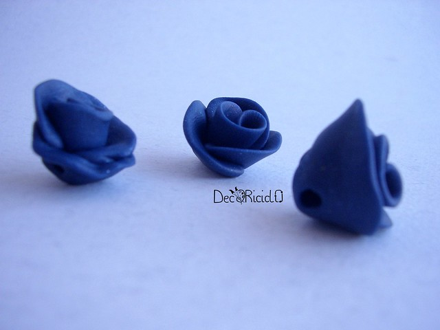 bottoni handmade rose blu 2