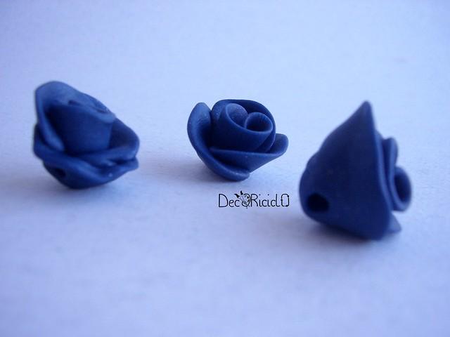 bottoni handmade rose blu 2