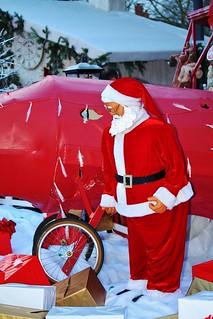 Père Noel aviateur