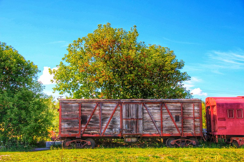 Uxbridge Ontario ~ Canada ~ Downtown ~ Brock St ~ Railroad Yards ~ Heritage