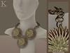 (Kunglers Extra) Frida Forever - Golden necklace