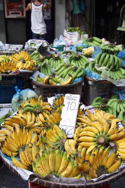 bananas, Silom Soi 20 market, Bangkok, Thailand