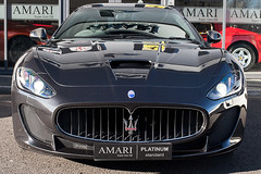 automobile(1.0), automotive exterior(1.0), maserati(1.0), vehicle(1.0), performance car(1.0), automotive design(1.0), maserati granturismo(1.0), bumper(1.0), land vehicle(1.0), luxury vehicle(1.0), sports car(1.0),