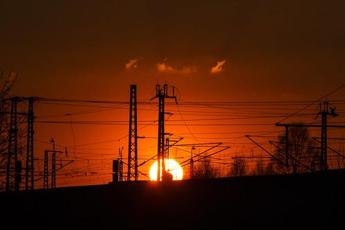 sunset sun dawn evening sonnenuntergang wolken dämmerung sonne