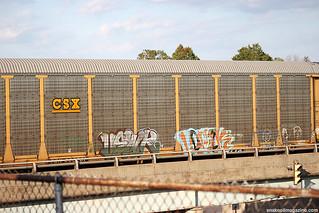 Autorack Train Graffiti