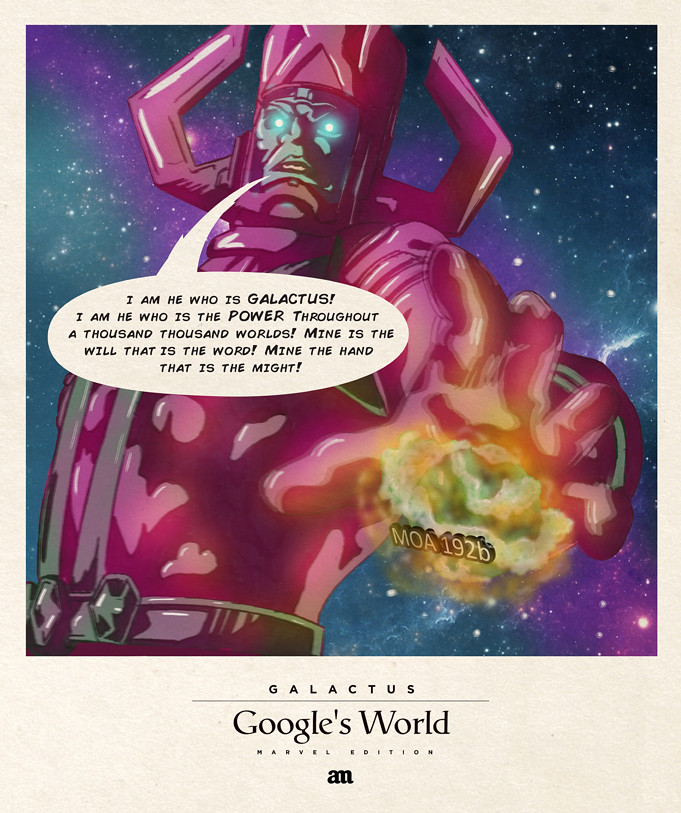 Galactus 'Google's World - Marvel Edition'