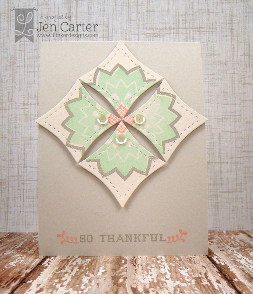 Jen Carter Wonky Squares Rosemaling
