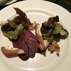 A truly inspired pear, marscapone salad at #Gardensrestaurant #shareslo #wheresgregg #delicious
