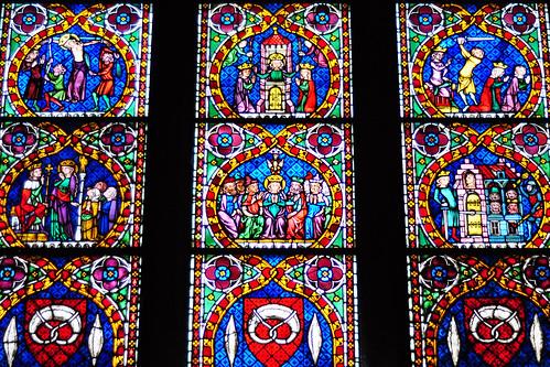 Freiburg Münster Glasfenster Kirchenfenster