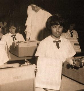 St. Michael's High School Typing Class Los Angeles, CA 1964