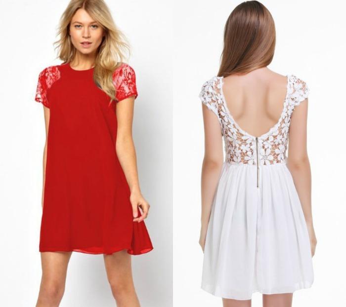 vestidos encaje sheinside
