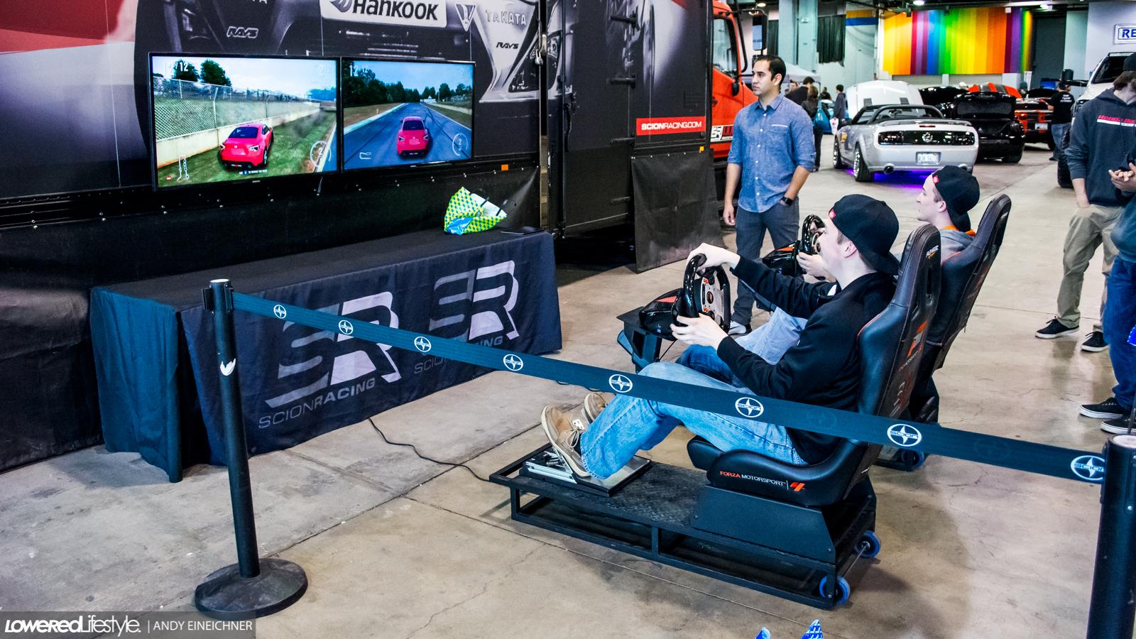 Scion Booth racing simulator