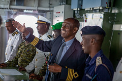 All visitors were given a tour of the HNLMS Tromp